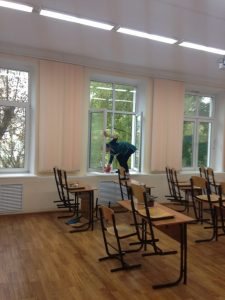 уборка в детском саду