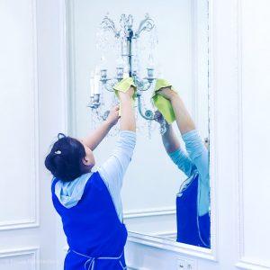 мытье осветительных приборов