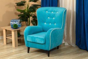 химчистка кресла из бархатной ткани